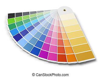kleuren palet, gids, pantone