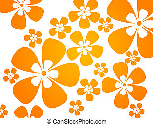 kleuren, warme, bloemen, achtergrond