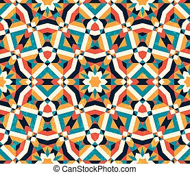 kleurrijke, abstract, pattern., seamless, achtergrond., geometrisch