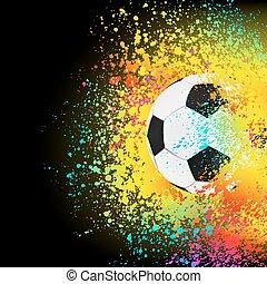 kleurrijke, eps, achtergrond, 8, voetbal, ball.