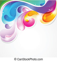 kleurrijke, gespetter, abstract, verf , vector, achtergrond