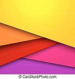 kleurrijke, layered, abstract, space., vector, achtergrond, kopie