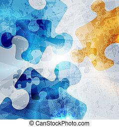 kleurrijke, ouderwetse , abstract, achtergrond., vorm, vector, ontwerp, collectief, raadsel