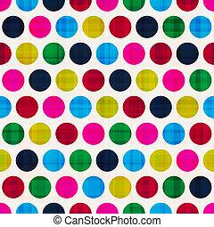 kleurrijke, polka, seamless, achtergrond