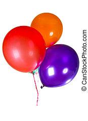 kleurrijke, versiering, veelkleurig, verjaardagsfeest, ballons, vrolijke