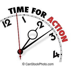 klok gezicht, woorden, tijd, actie, witte , zijn