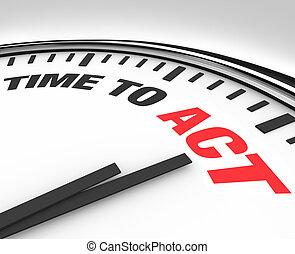 klok, werken, -, actie, woorden, tijd, gereed