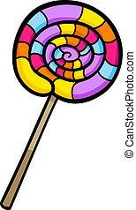 knip kunst, lollipop, illustratie, spotprent