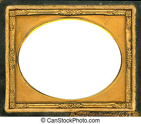 knippend pad, daguerreotype, frame