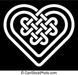 knoop, keltisch, hart gedaante