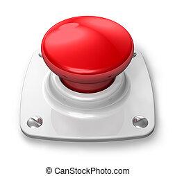 knoop, rood, alarm
