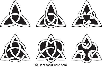 knopen, keltisch, driehoek
