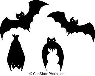 knuppels, set, halloween