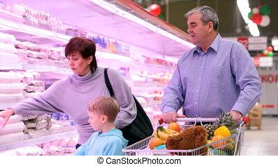 koelkasten, mall, gezin