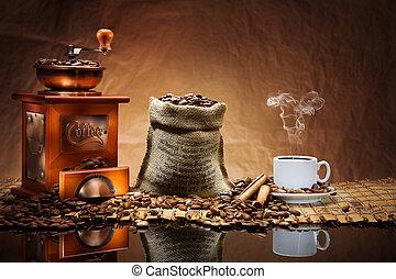 koffie, accessoires, mat