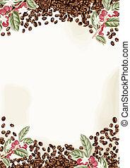 koffie bonen, achtergrond