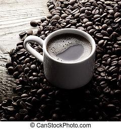 koffie bonen, kop