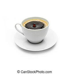 koffie, druppel