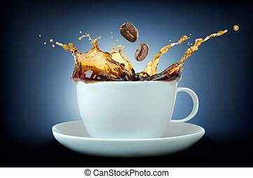 koffie, gespetter, bonen