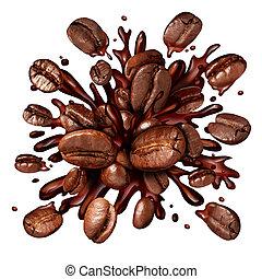 koffie, gespetter