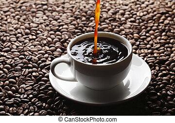 koffie, gieten