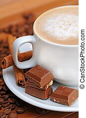 koffie, melk, kop