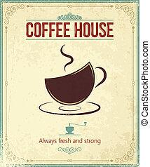 koffie, ouderwetse , achtergrond
