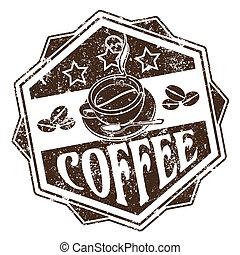 koffie, postzegel