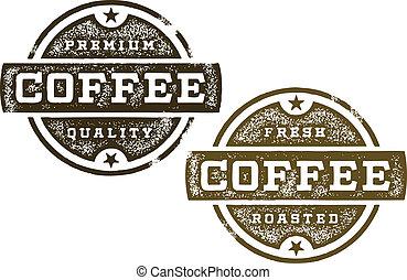 koffie, premie, postzegels