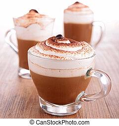 koffie, schuim, room
