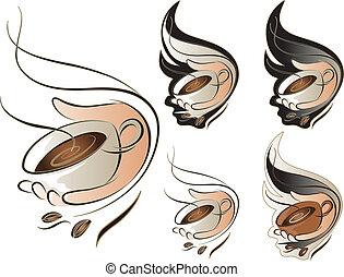 koffie stel, meldingsbord
