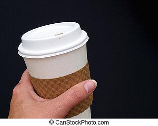 koffie, vasthoudende kop