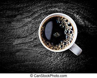 koffie, volle, filter, mok, gebraad, fris