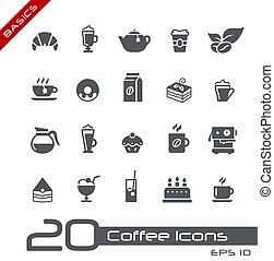 koffie, //, winkel, iconen, grondbeginselen
