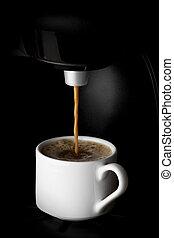 koffieautomaat, gieten