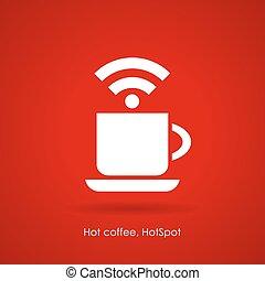 koffiehuis, internetten ikoon