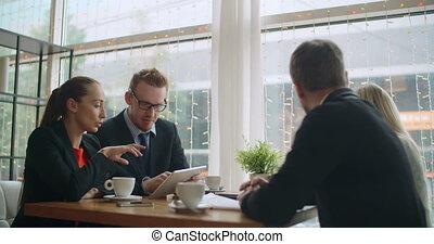koffiehuis, team, zakelijk