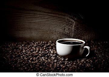 koffiekop, bonen