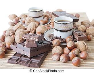 koffiekop, chocolade