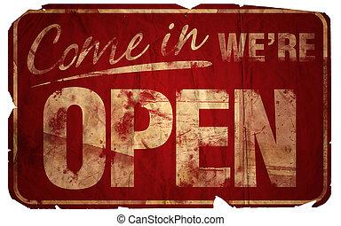 komen, oud, open, we're