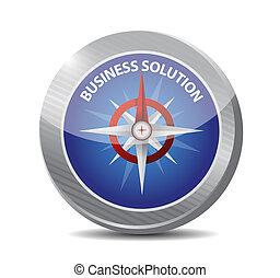 kompas, concept, oplossing, bedrijfsteken