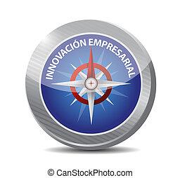 kompas, innovatie, meldingsbord, zakelijk, spaanse