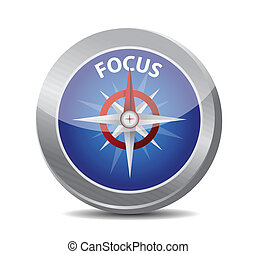 kompas, ontwerp, gids, illustratie, brandpunt