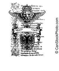 koninklijk, heraldisch, embleem