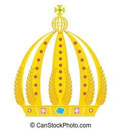 koninklijke kroon, goud