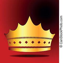koninklijke kroon, illustratie, goud