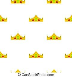 koninklijke kroon, seamless, goud, model
