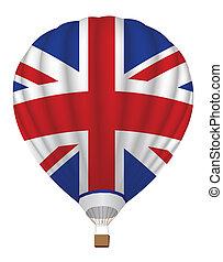 koninkrijk, balloon, verenigd, vlag