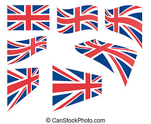 koninkrijk, set, vlaggen, verenigd