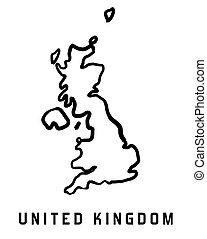 koninkrijk, verenigd, kaart